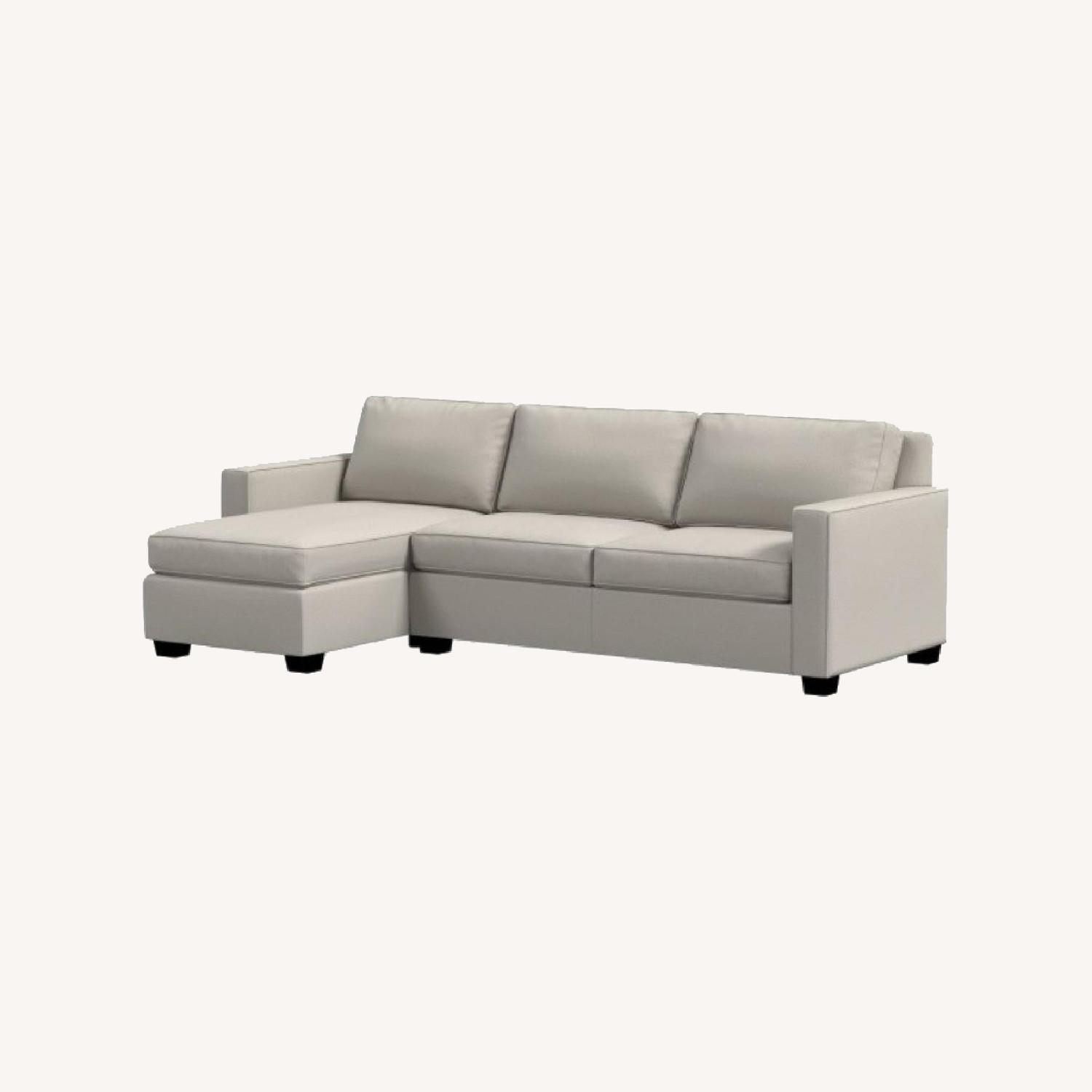 West Elm Gray Henry Sleeper Sofa with Chaise - image-0