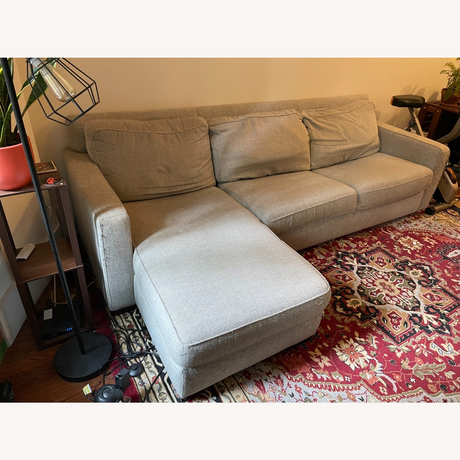 West Elm Gray Henry Sleeper Sofa with Chaise - image-1