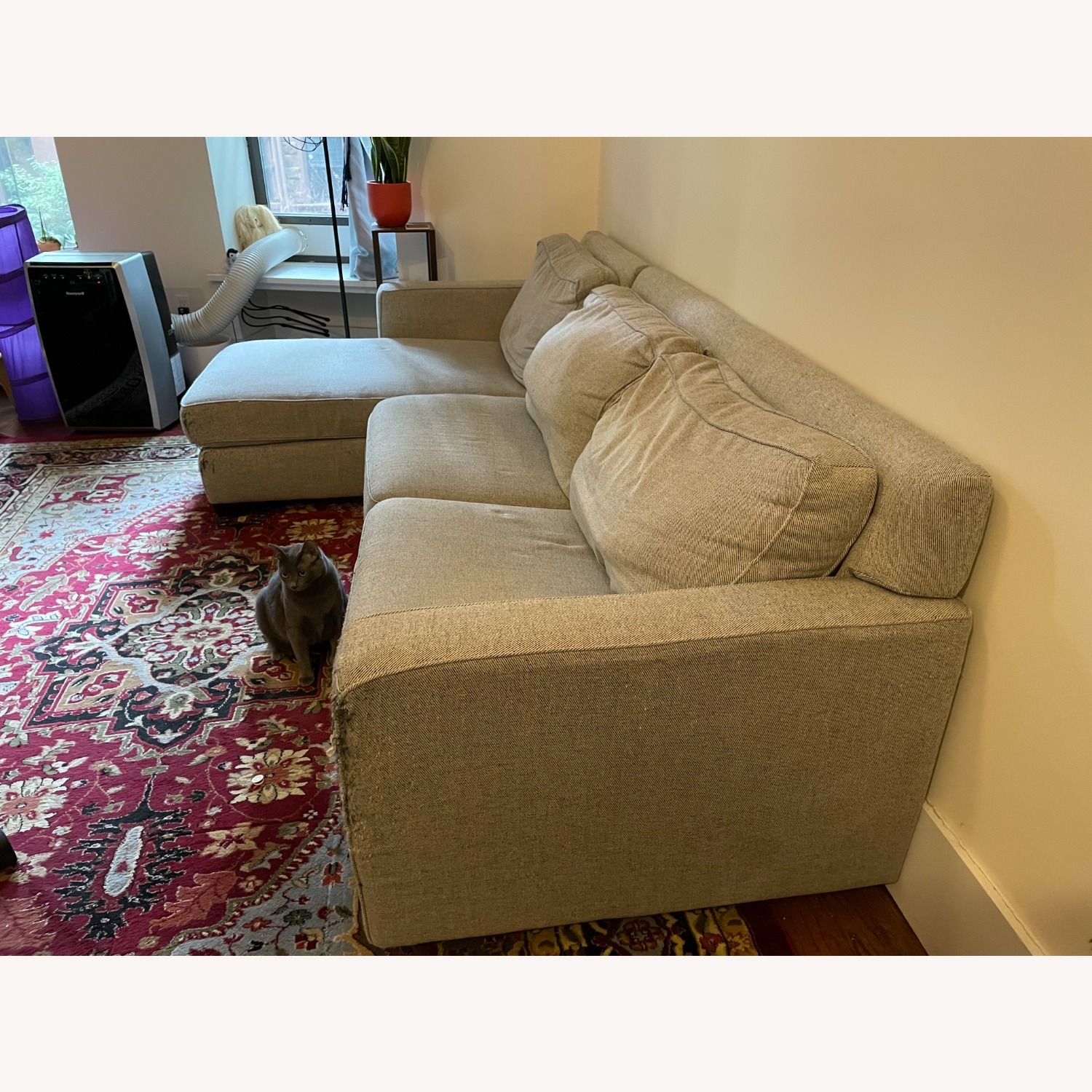 West Elm Gray Henry Sleeper Sofa with Chaise - image-3