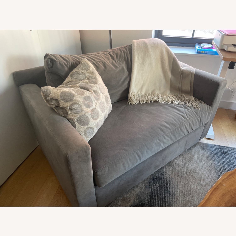 Crate & Barrel Twin Sleeper Sofa - image-3