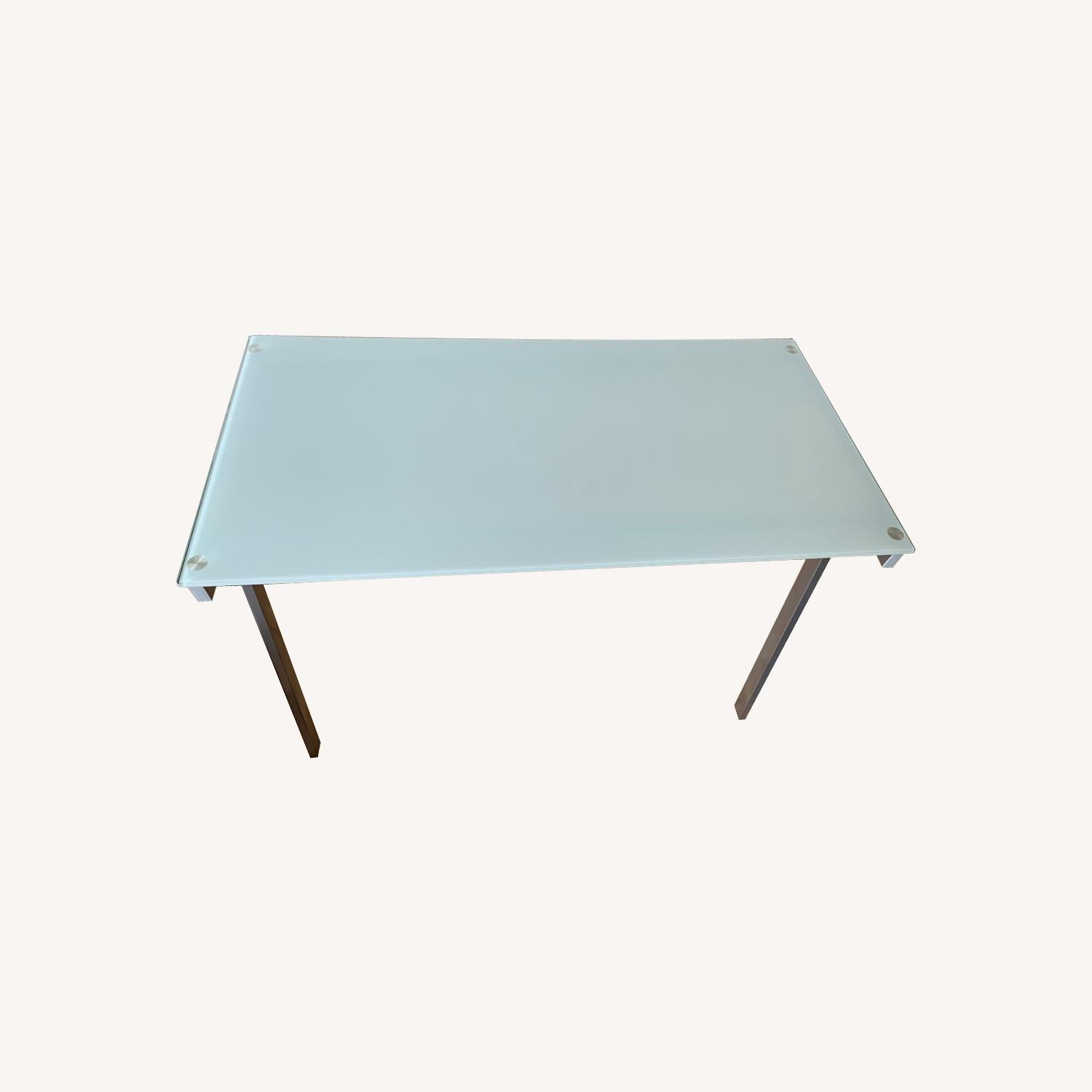 Desk with Frosted Glass Top - image-0