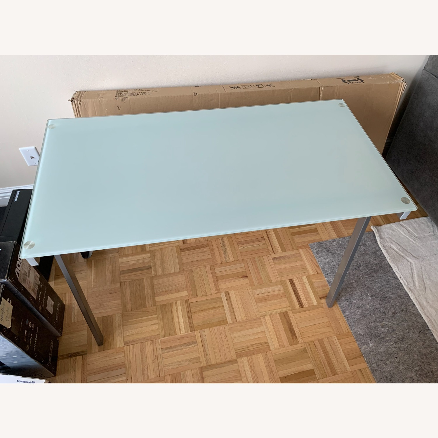 Desk with Frosted Glass Top - image-3