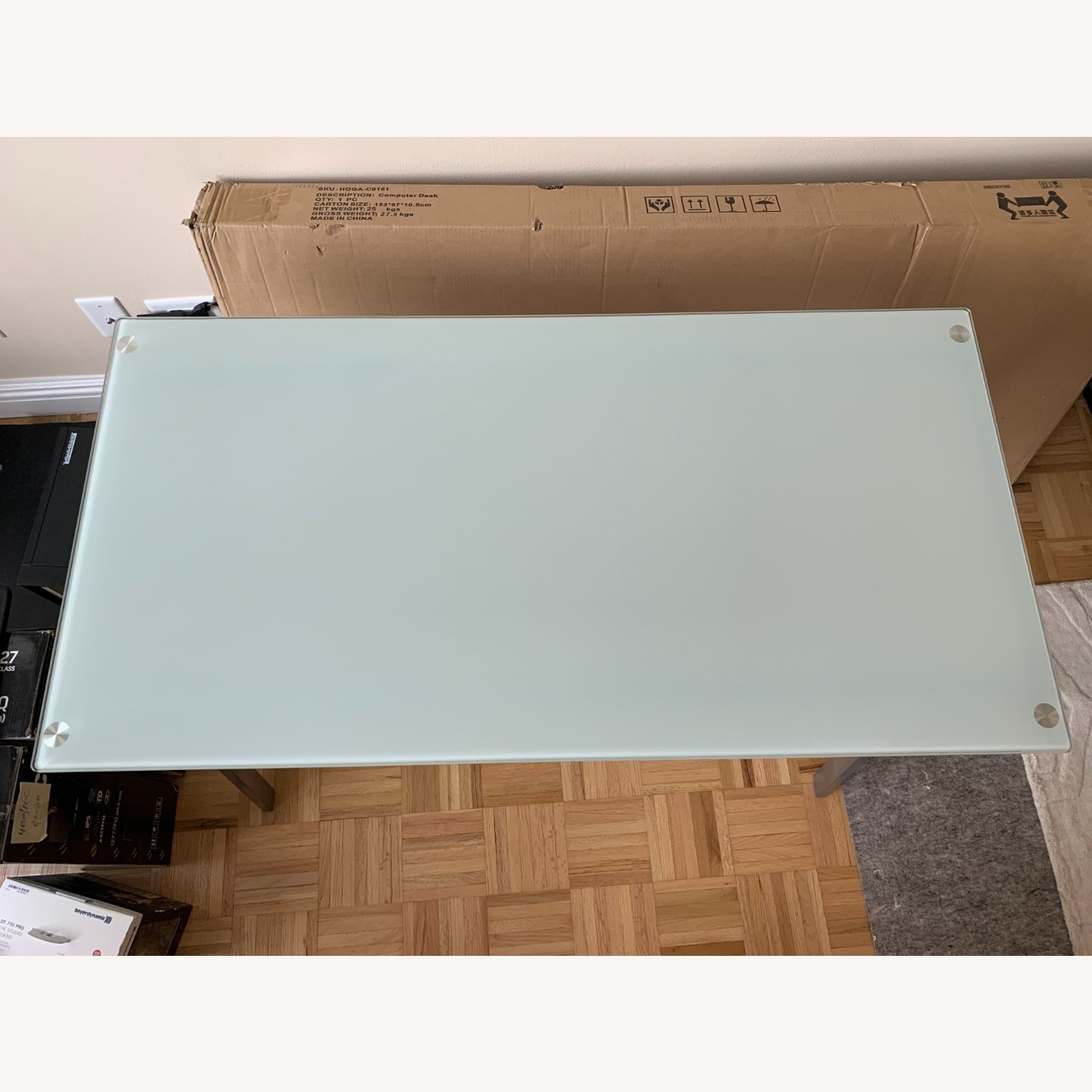 Desk with Frosted Glass Top - image-1