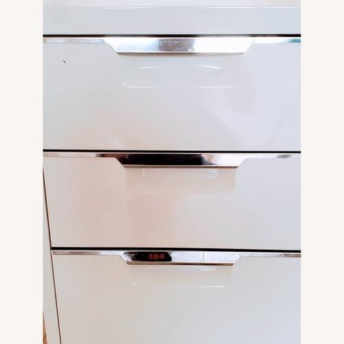Used CB2 White 3-Drawer Filing Cabinet for sale on AptDeco