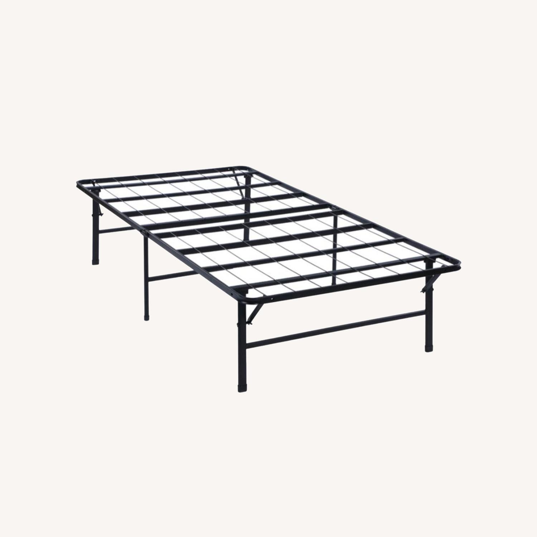 Platform Twin Bed In Black Powder Coated Finish - image-7