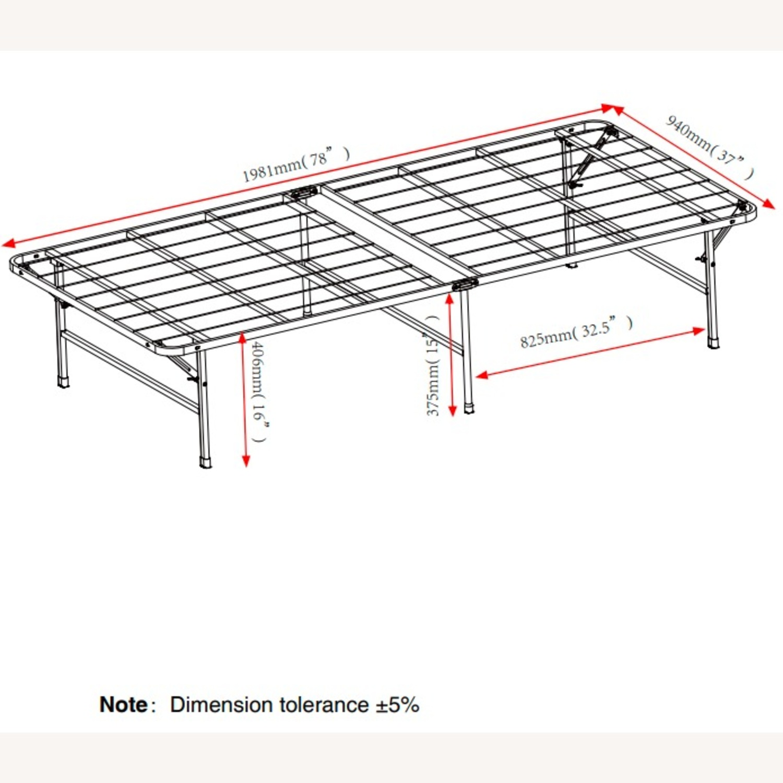 Platform Twin Bed In Black Powder Coated Finish - image-6
