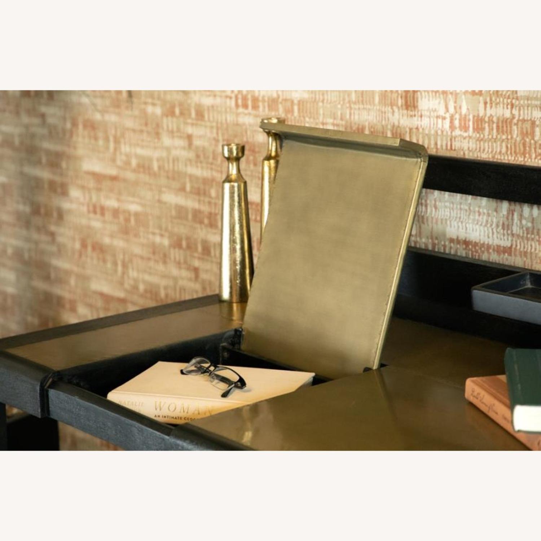Writing Desk In Mango Wood & Rustic Black Finish - image-5