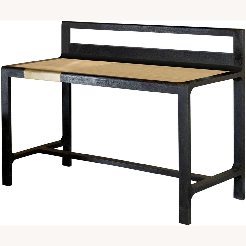 Writing Desk In Mango Wood & Rustic Black Finish - image-0