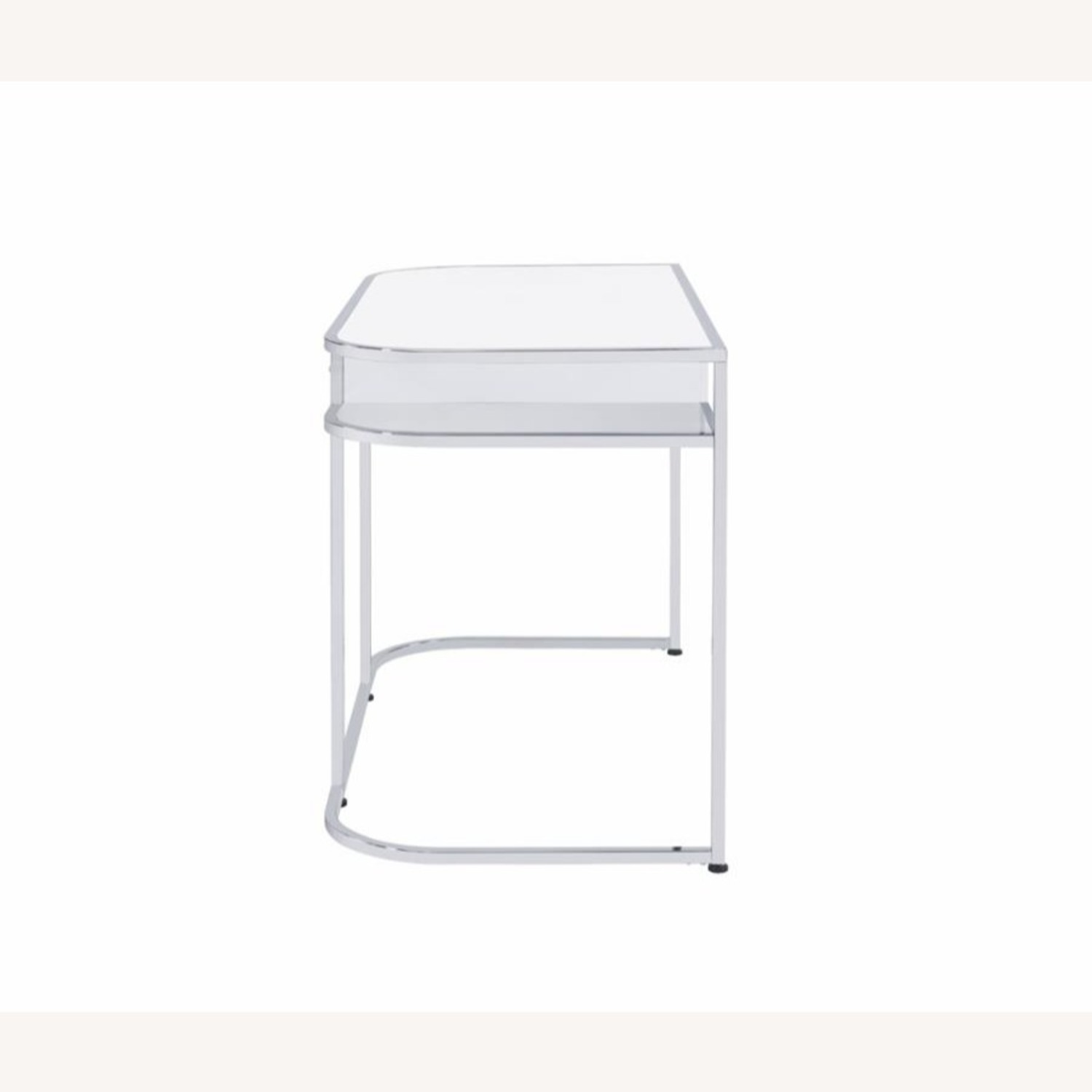 Writing Desk In White High Gloss Lacquer Finish - image-7