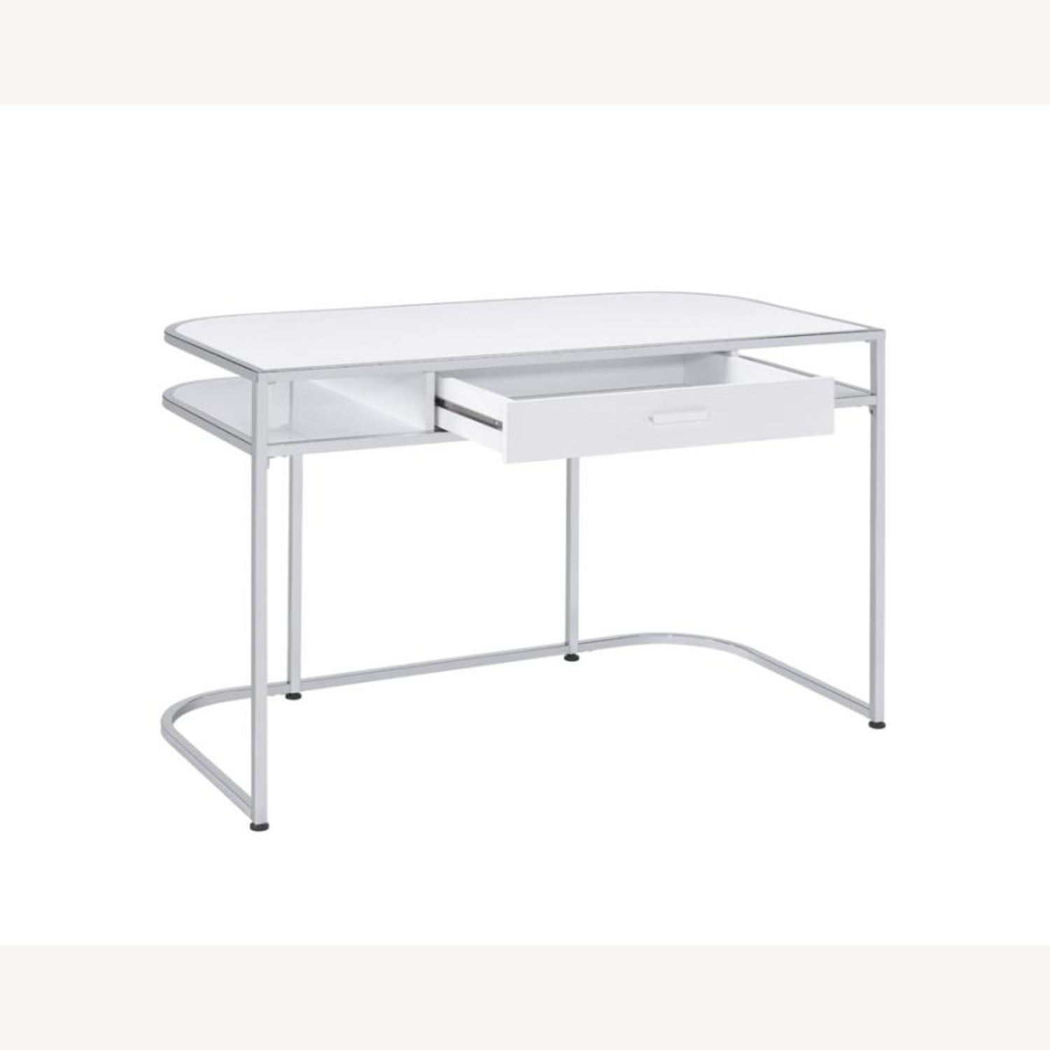 Writing Desk In White High Gloss Lacquer Finish - image-2