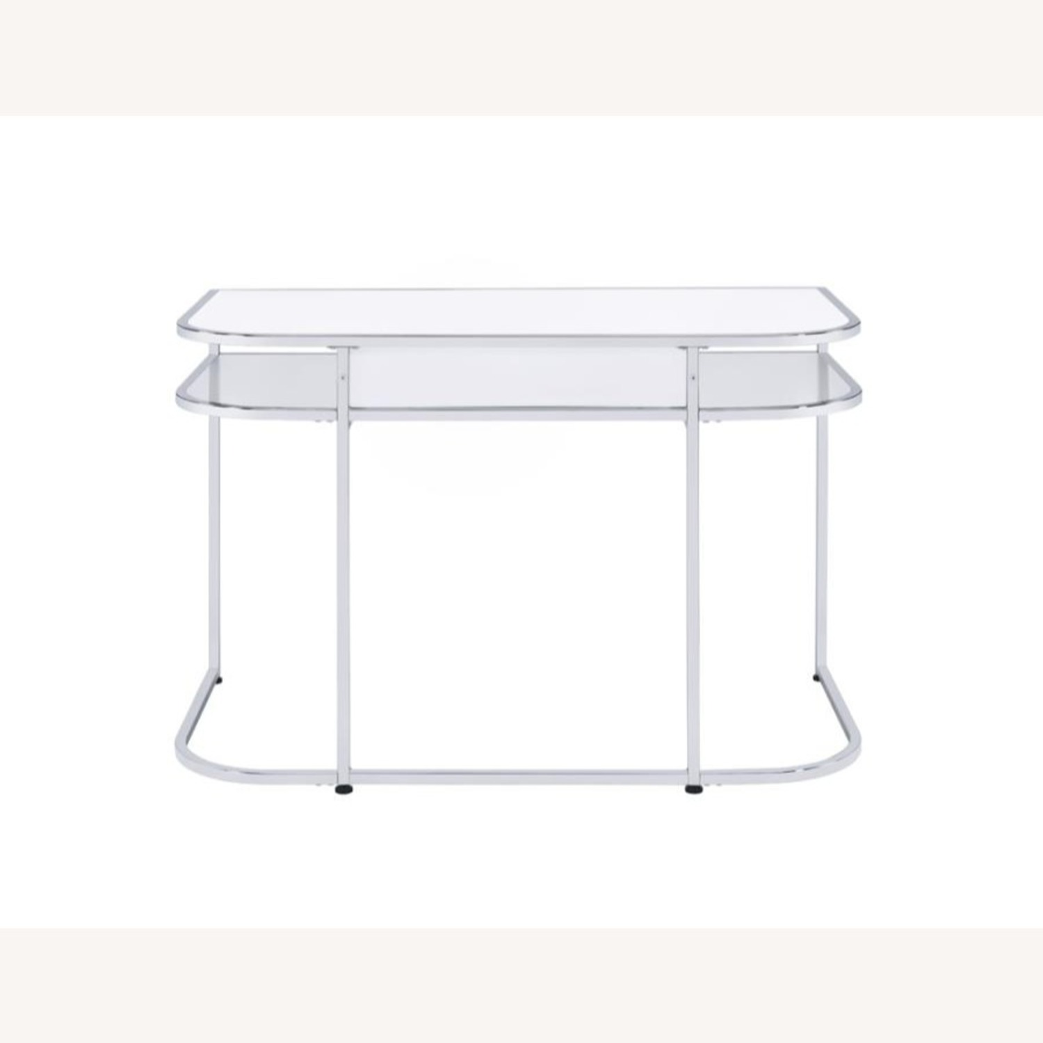 Writing Desk In White High Gloss Lacquer Finish - image-6