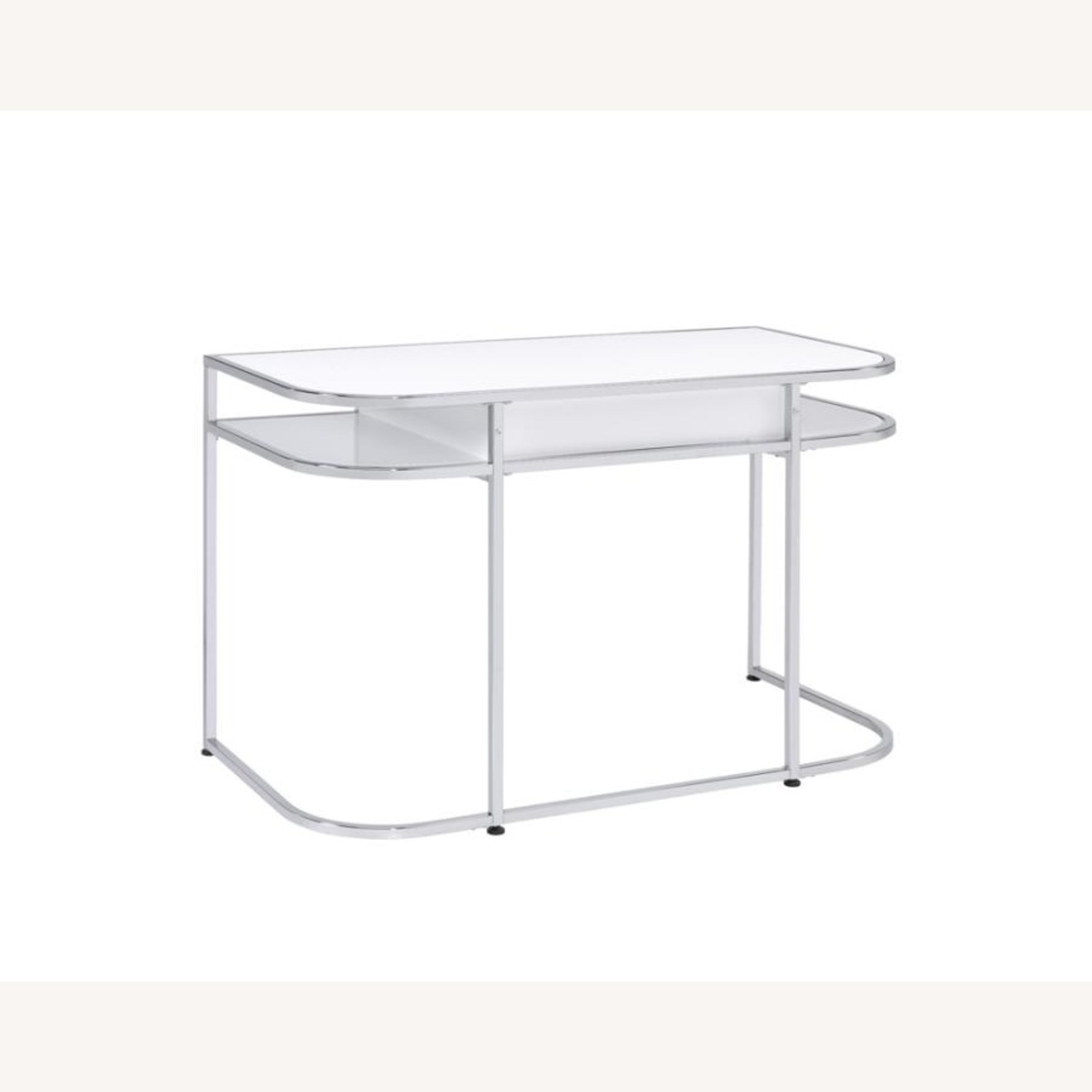 Writing Desk In White High Gloss Lacquer Finish - image-5