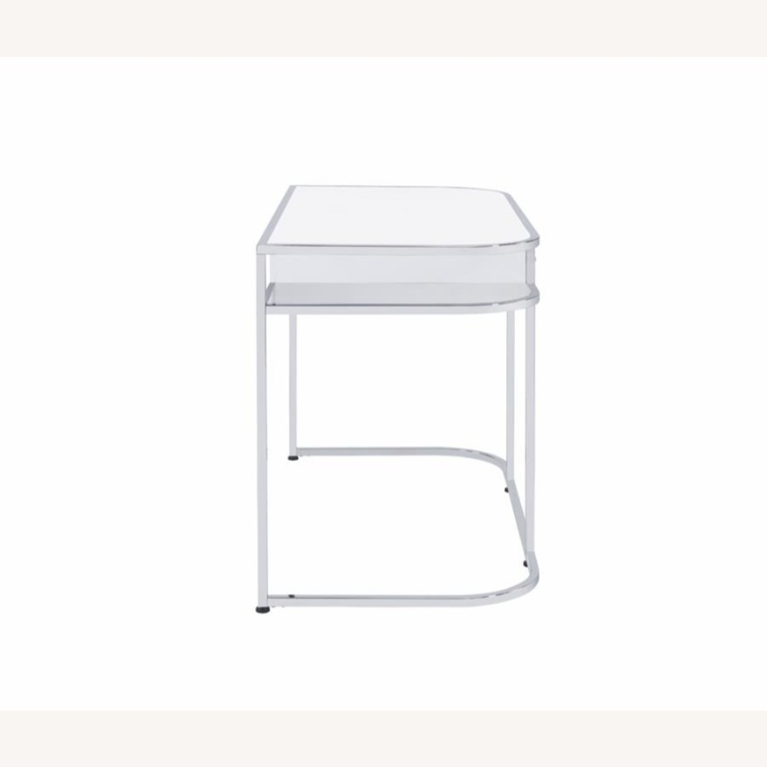 Writing Desk In White High Gloss Lacquer Finish - image-4