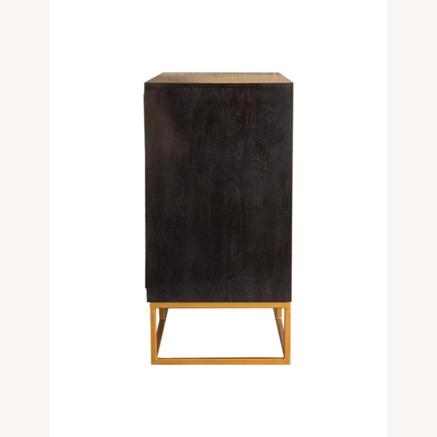 Accent Cabinet In Black Walnut & Gold Finish - image-1