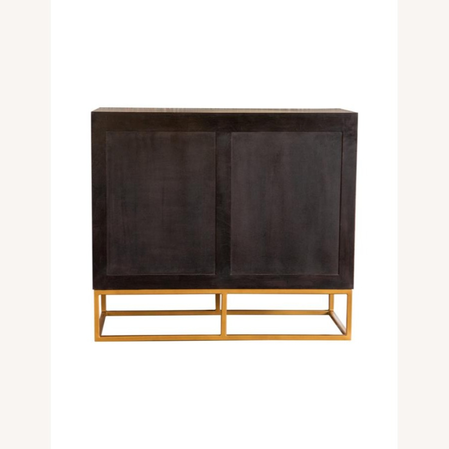 Accent Cabinet In Black Walnut & Gold Finish - image-2