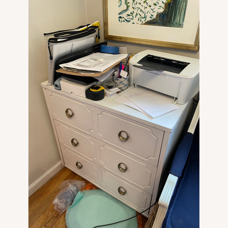 Vintage White Dresser with Brass Pulls - image-5