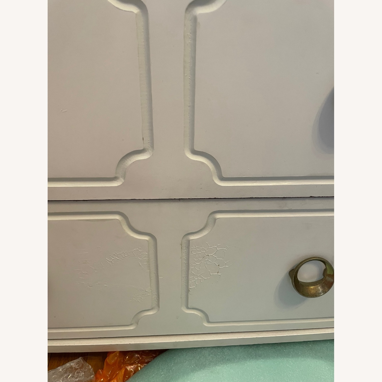 Vintage White Dresser with Brass Pulls - image-1