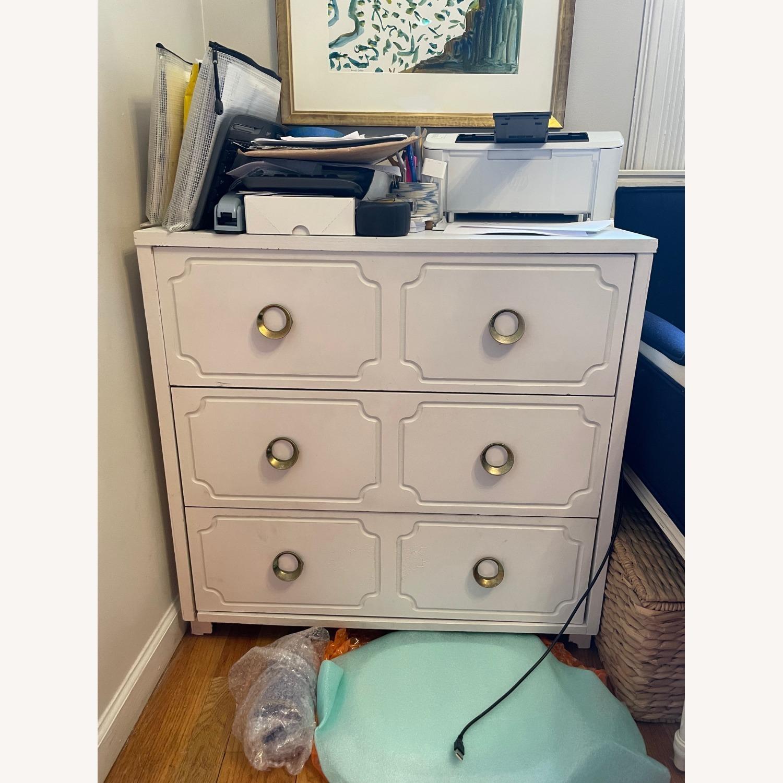 Vintage White Dresser with Brass Pulls - image-6