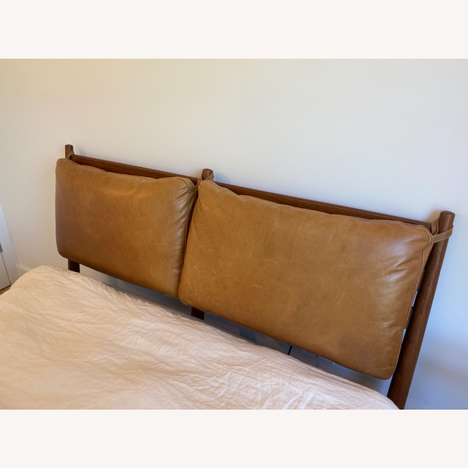 West Elm Arne Bed with Leather Cushions - image-4