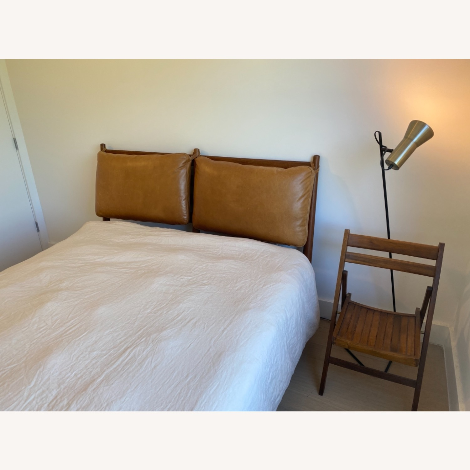 West Elm Arne Bed with Leather Cushions - image-3