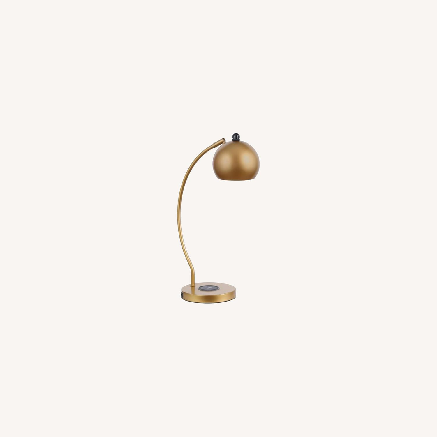 Contemporary Style Table Lamp In Gold Finish - image-3