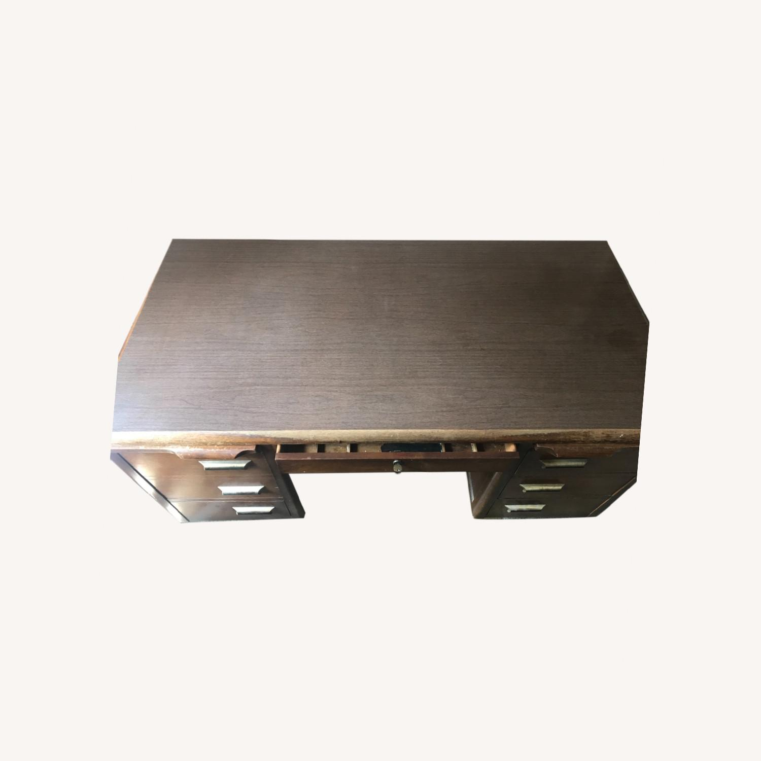 Wooden Desk with Locking Central Drawer - image-0