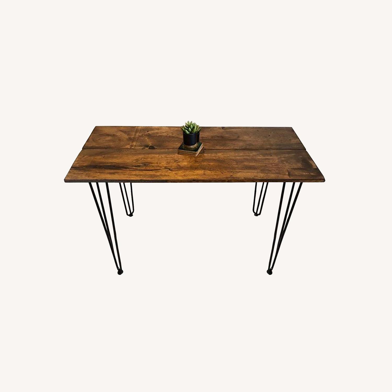 Reclaimed Desk & Hairpin Legs - image-0