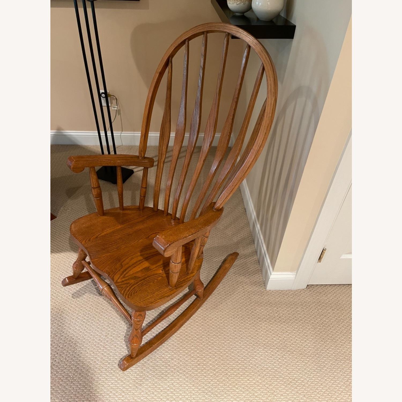Solid Oak Windsor Rocking Chair - image-2