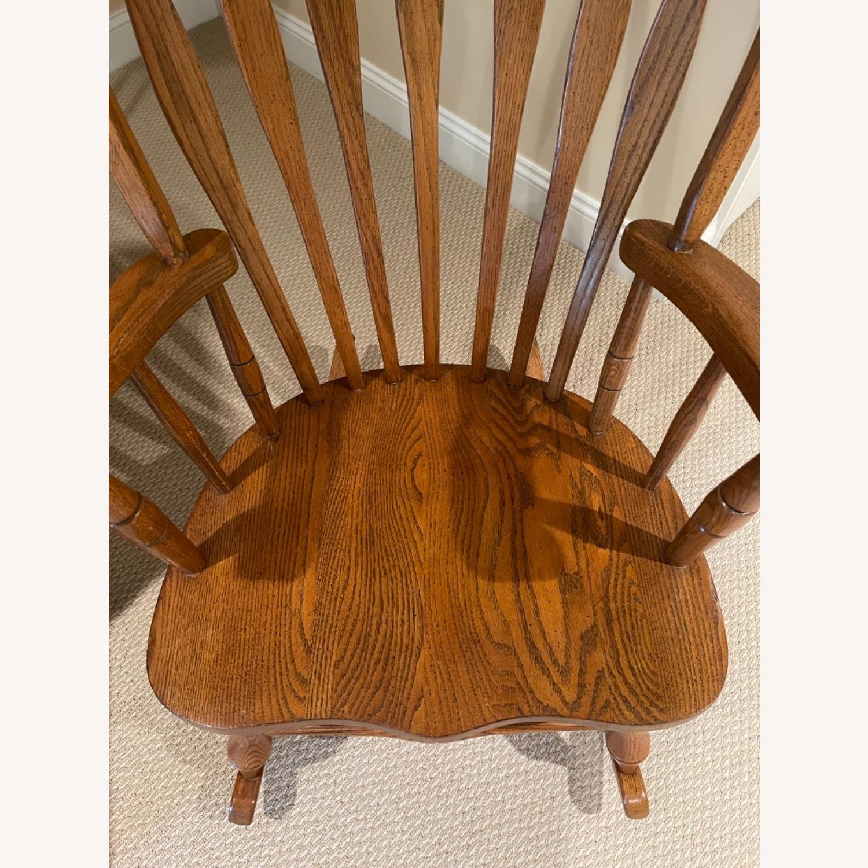 Solid Oak Windsor Rocking Chair - image-3