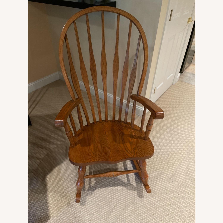 Solid Oak Windsor Rocking Chair - image-1