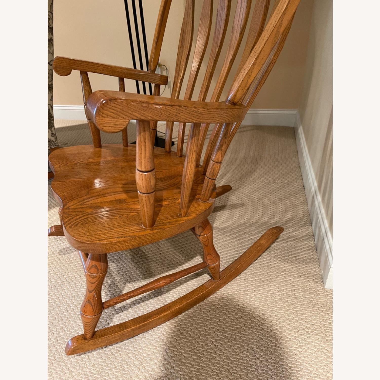 Solid Oak Windsor Rocking Chair - image-4