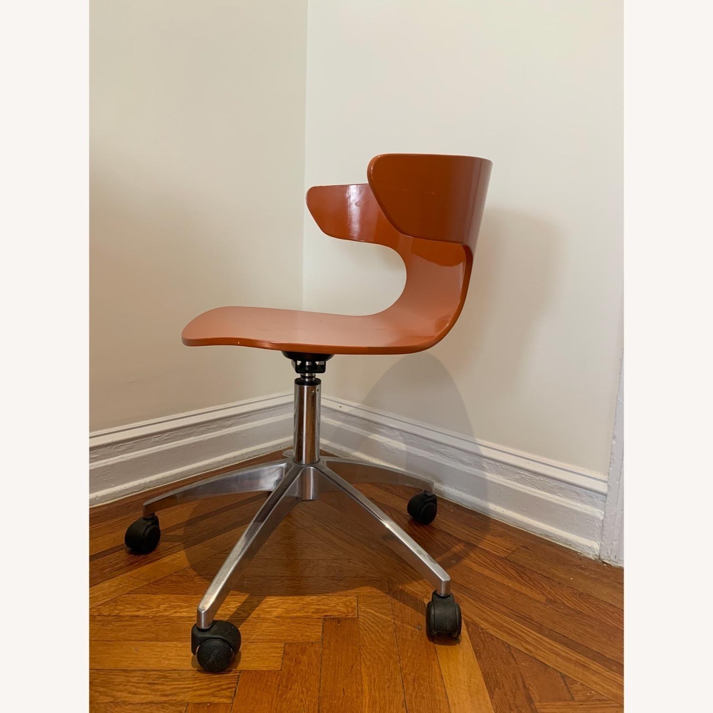 West Elm Retro Orange Office Chair - image-2