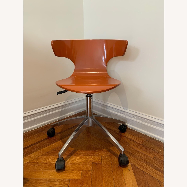West Elm Retro Orange Office Chair - image-1
