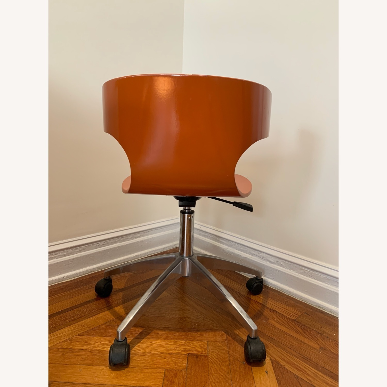 West Elm Retro Orange Office Chair - image-4