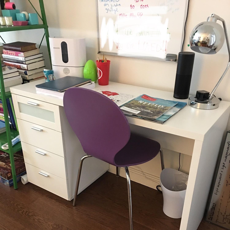White Desk w/ Drawers - image-2
