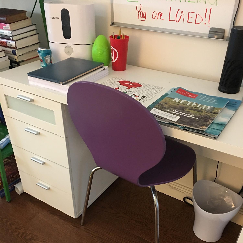 White Desk w/ Drawers - image-3