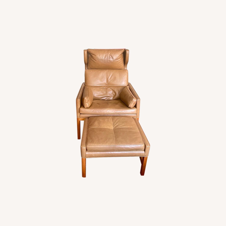 BassamFellows CB-51 Chair and Ottoman - image-0