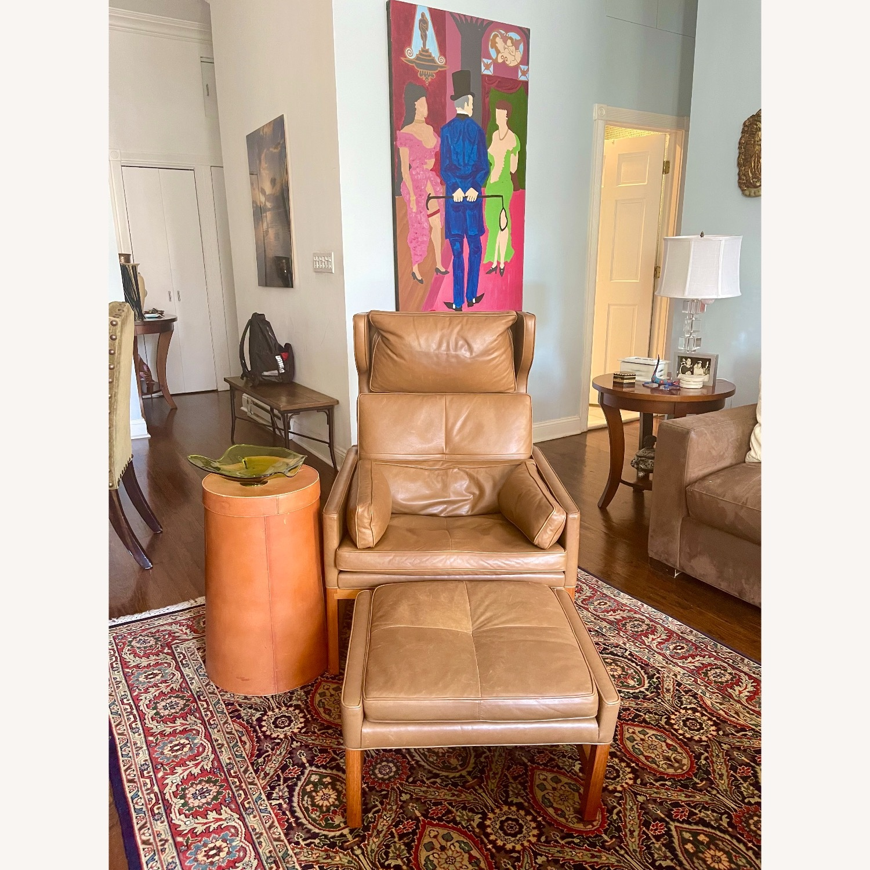 BassamFellows CB-51 Chair and Ottoman - image-2