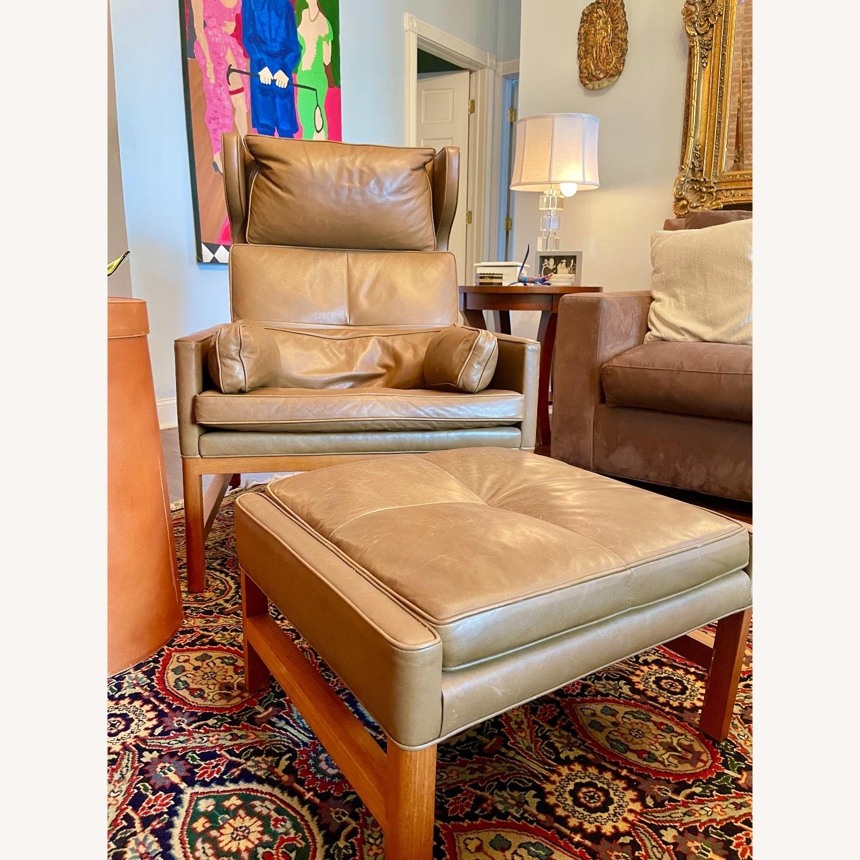 BassamFellows CB-51 Chair and Ottoman - image-4