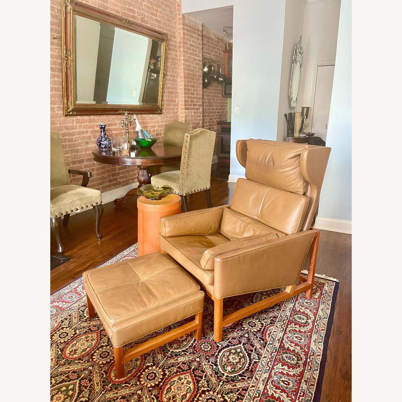 BassamFellows CB-51 Chair and Ottoman - image-1