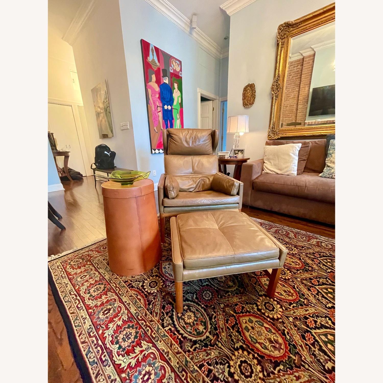 BassamFellows CB-51 Chair and Ottoman - image-6