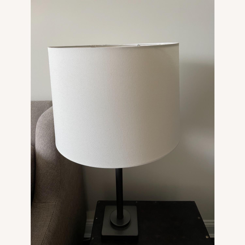 Dark Gray Metal Table Lamp - image-1