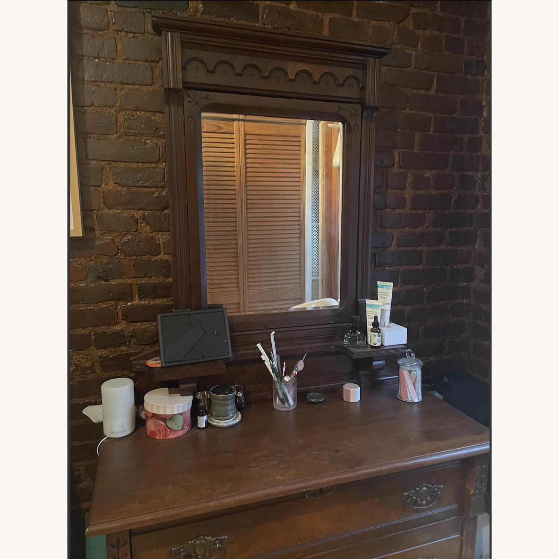 Antique 3 Drawer Dresser w/ Mirror - image-6