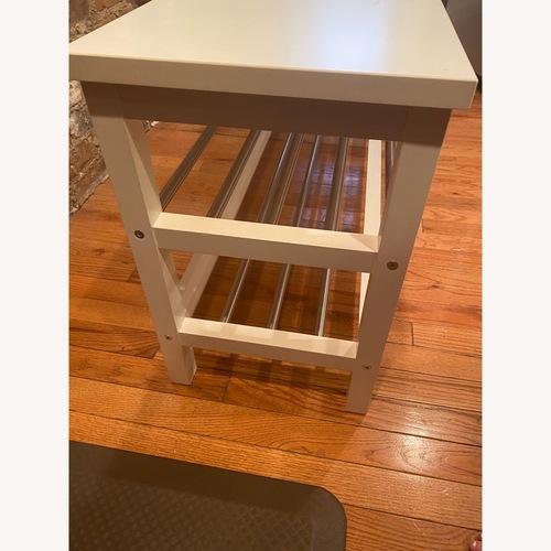 Used IKEA White Shoe Rack/Shelving Unit for sale on AptDeco