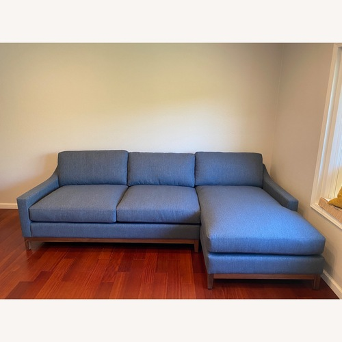 Used Living Spaces 2 Piece Sectional Couch for sale on AptDeco