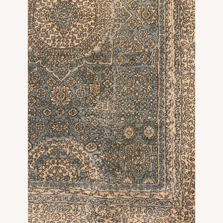 "Blue/Green Oriental Momeni Rug 48""x68"" - image-2"