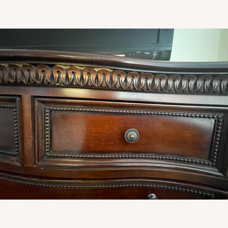 Original Wood Antique Armoire - image-3