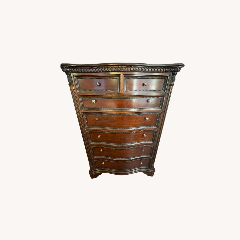 Original Wood Antique Armoire - image-0