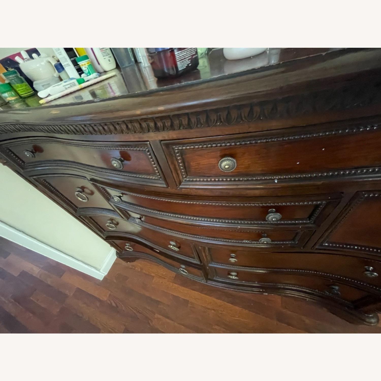 Antique Original Wood Dresser / Mirror - image-2