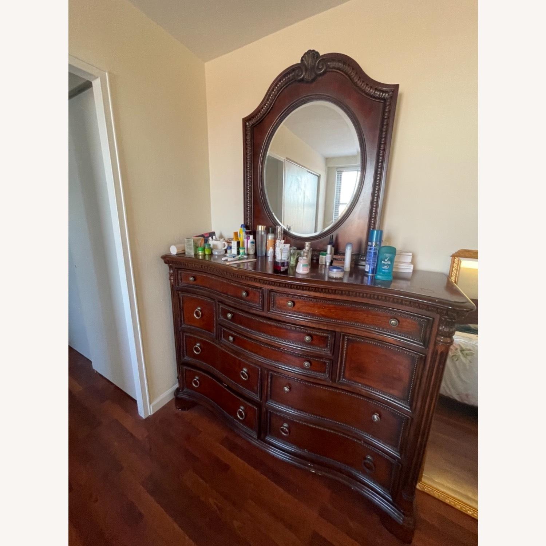 Antique Original Wood Dresser / Mirror - image-1